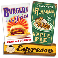 Metal Wall Signs tin signs: retro tin signs, vintage signs & porcelain signs