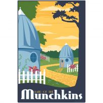Munchkin Land Wizard Of Oz Wall Decal Part 41