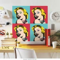 Marilyn Monroe Warhol Style Wall Decal