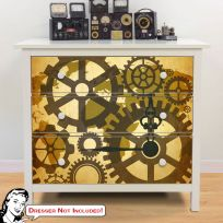 Upcycling ikea furniture accessories ikea hacks retroplanet clock gear map of the world ikea hemnes dresser graphic gumiabroncs Gallery